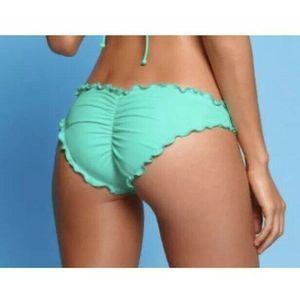 Victoria Secret Swim Bikini Bottom Ruffle Cheeky